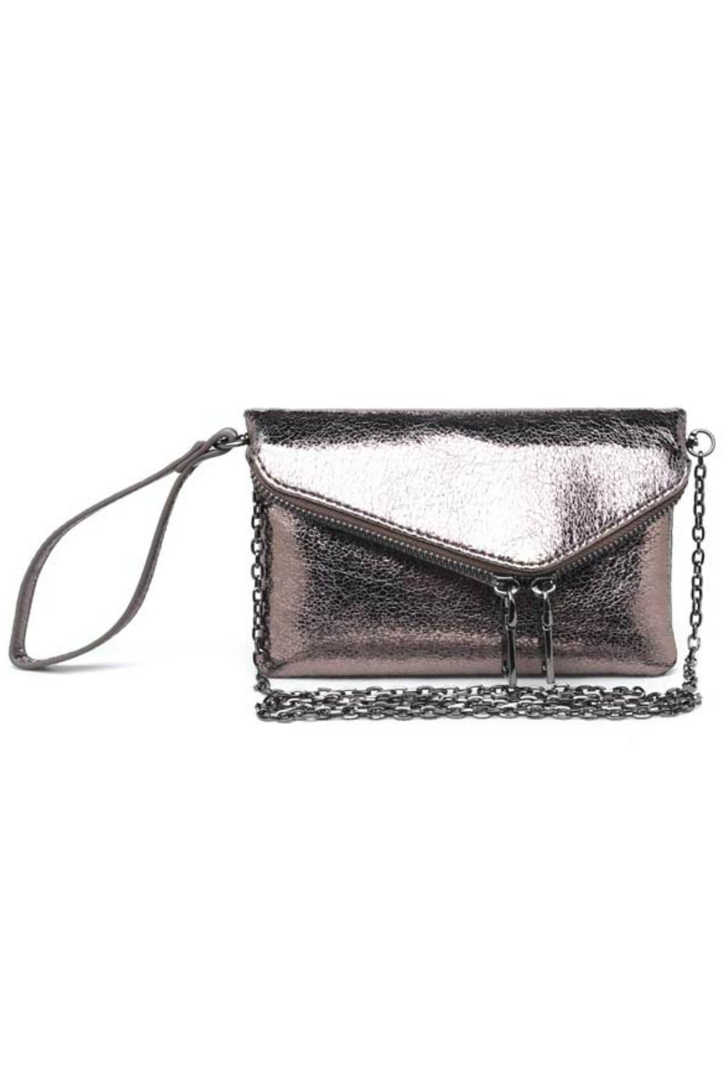 Urban Expressions Lucy Metallic Clutch - Front Cropped Image