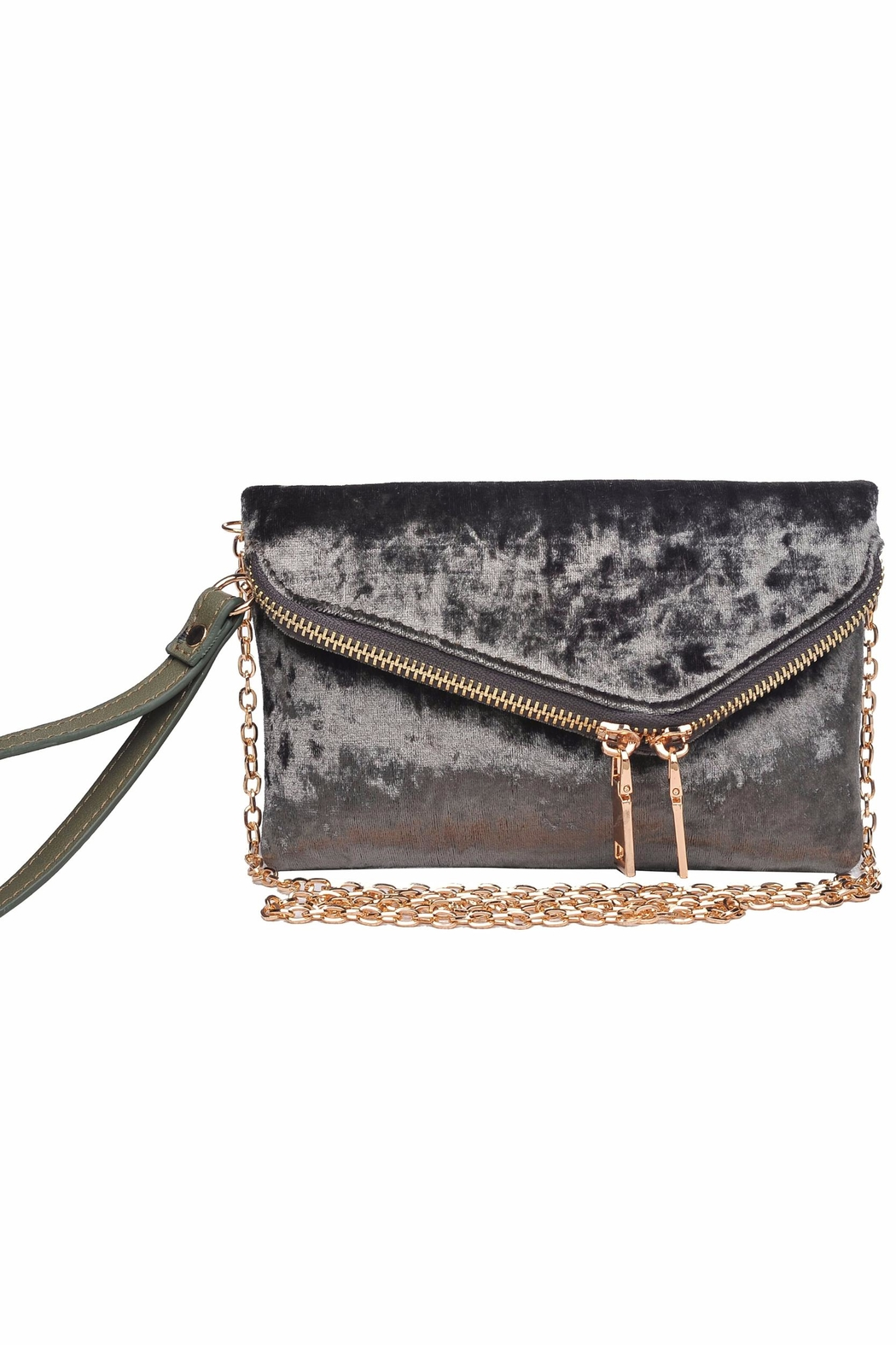 Urban Expressions Lucy Velvet Clutch - Main Image