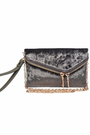 Urban Expressions Lucy Velvet Clutch - Front full body
