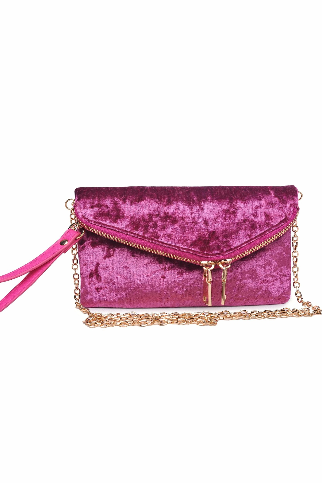 Urban Expressions Lucy Velvet Clutch - Front Cropped Image