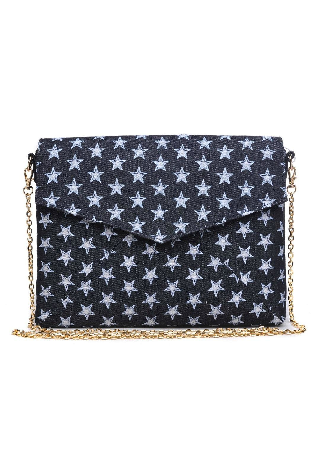 Urban Expressions Mercury Denim Clutch - Front Cropped Image
