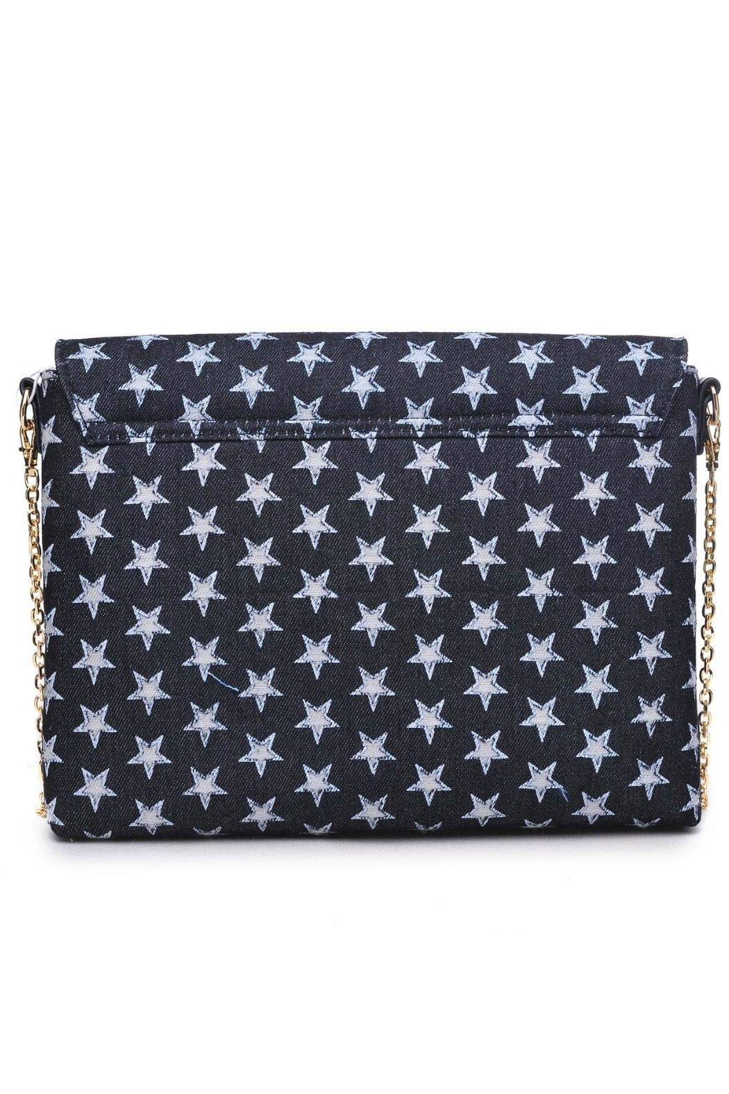 Urban Expressions Star Denim Clutch - Front Full Image