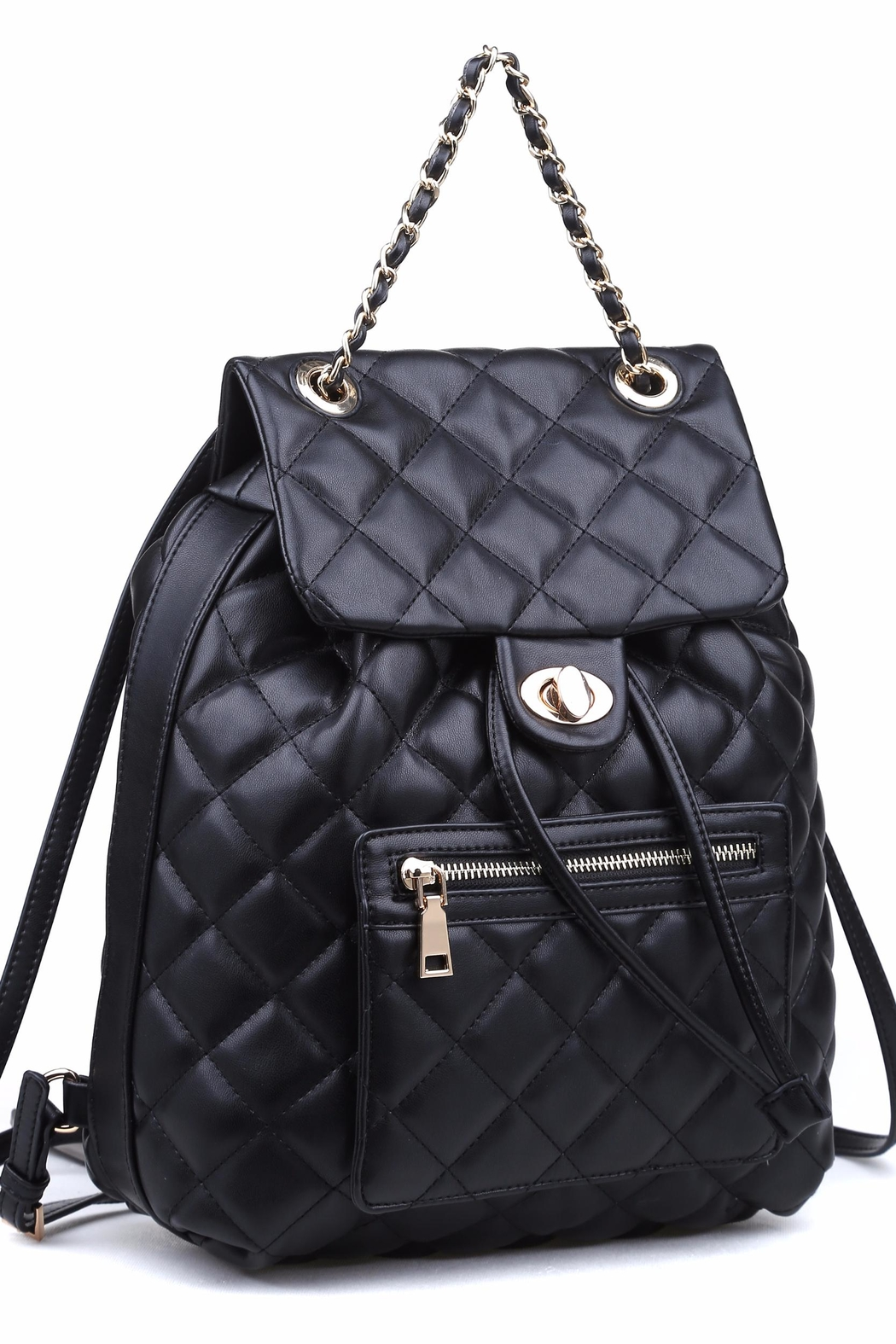 Urban Expressions Monroe Quilted Backpack - Side Cropped Image