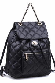 Urban Expressions Monroe Quilted Backpack - Side cropped