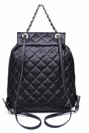 Urban Expressions Monroe Quilted Backpack - Front full body