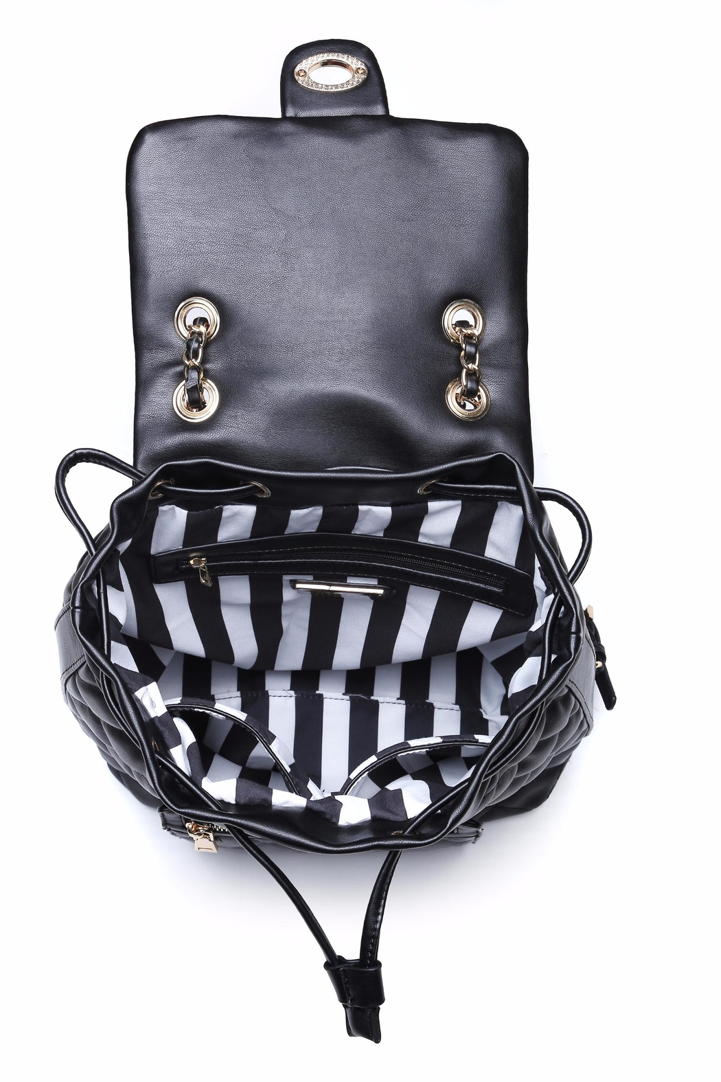 Urban Expressions Monroe Quilted Backpack - Back Cropped Image
