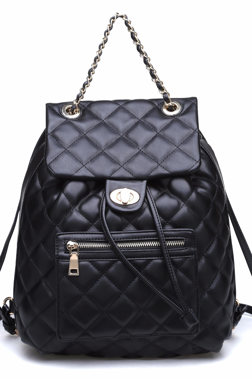 Urban Expressions Monroe Quilted Backpack - Front Cropped Image
