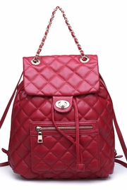 Urban Expressions Monroe Quilted Backpack - Front cropped