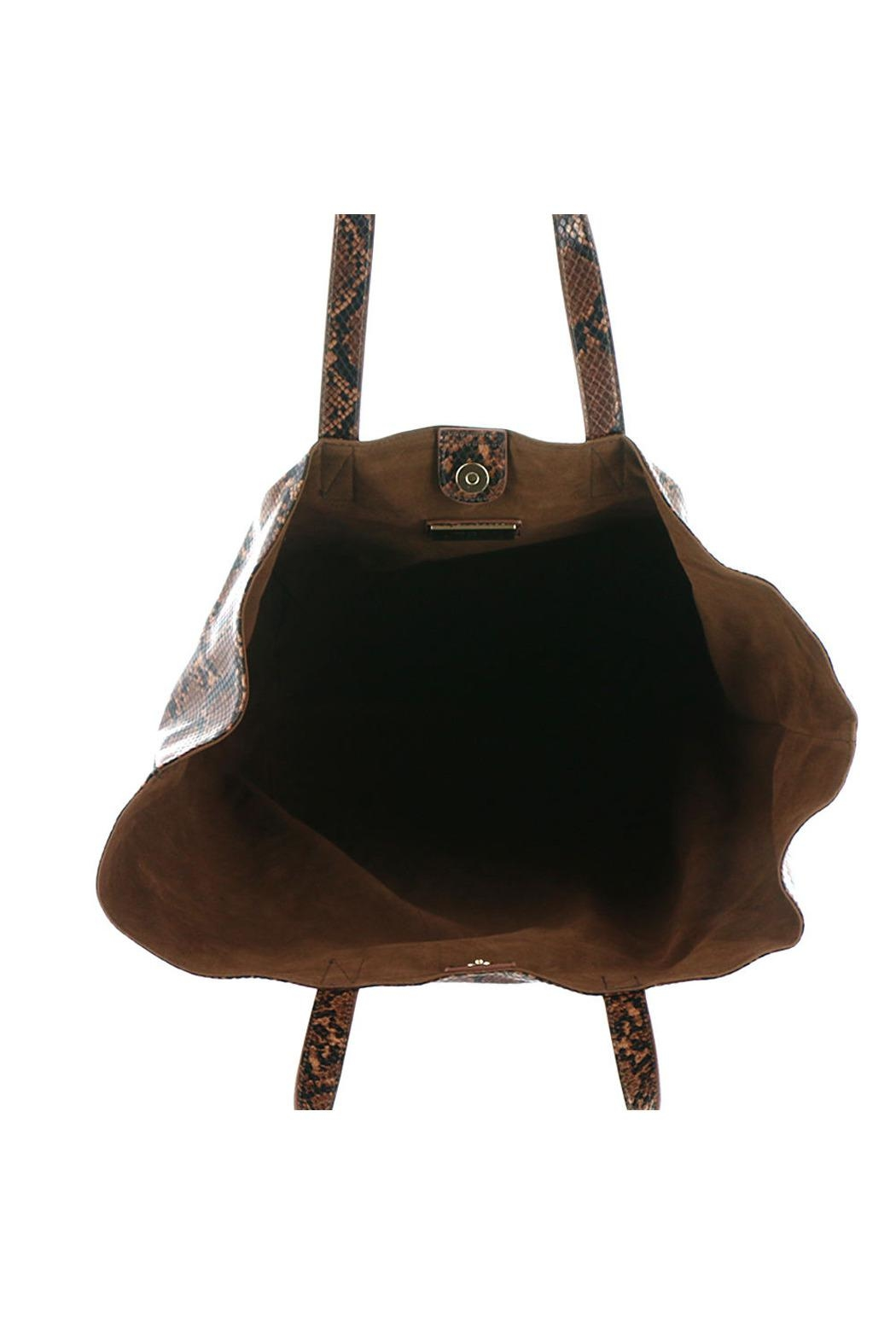 Urban Expressions Mylah Python Tote - Front Full Image
