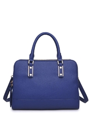 Urban Expressions Navy Satchel Bag - Front cropped