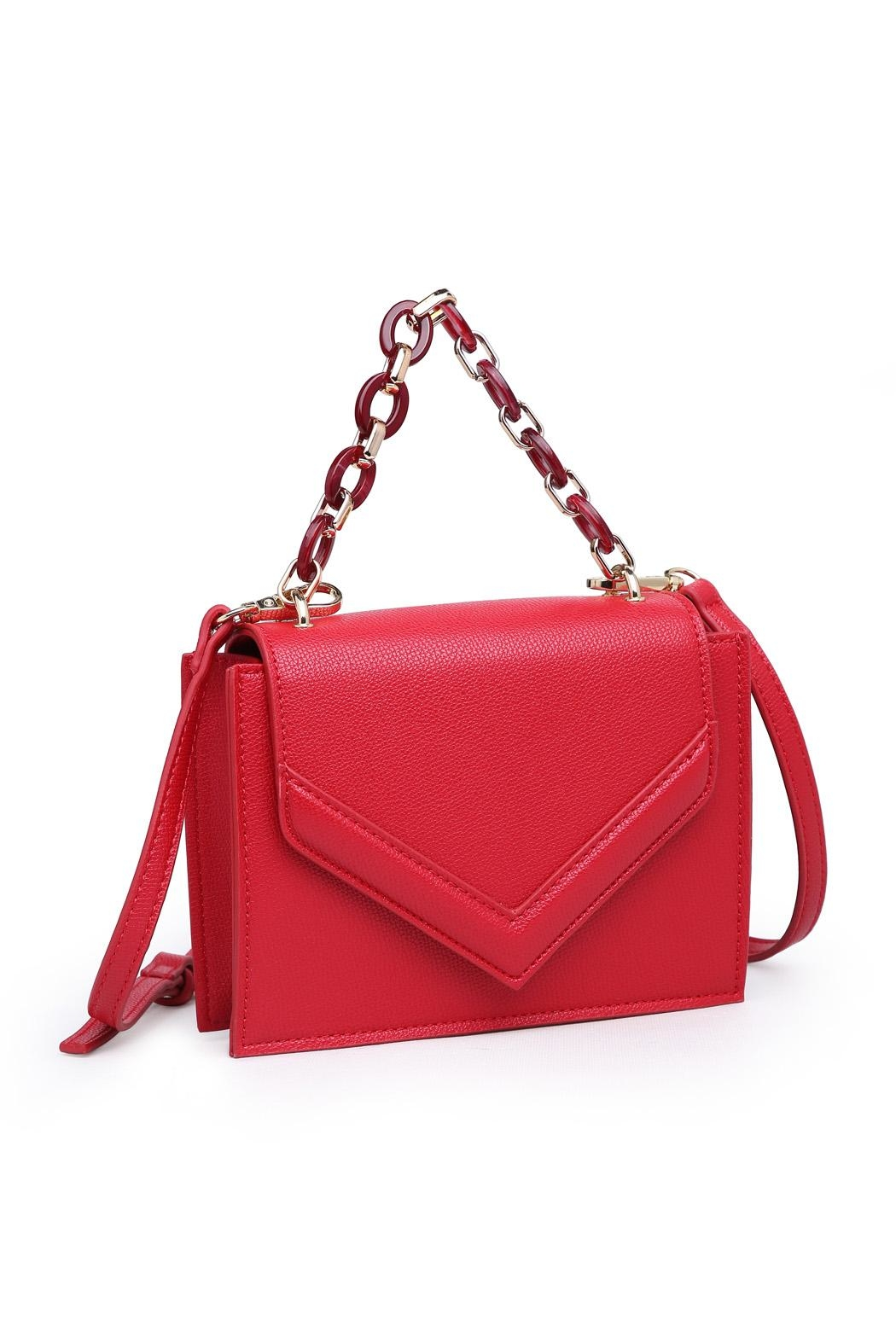 Urban Expressions Red Crossbody Bag - Front Full Image