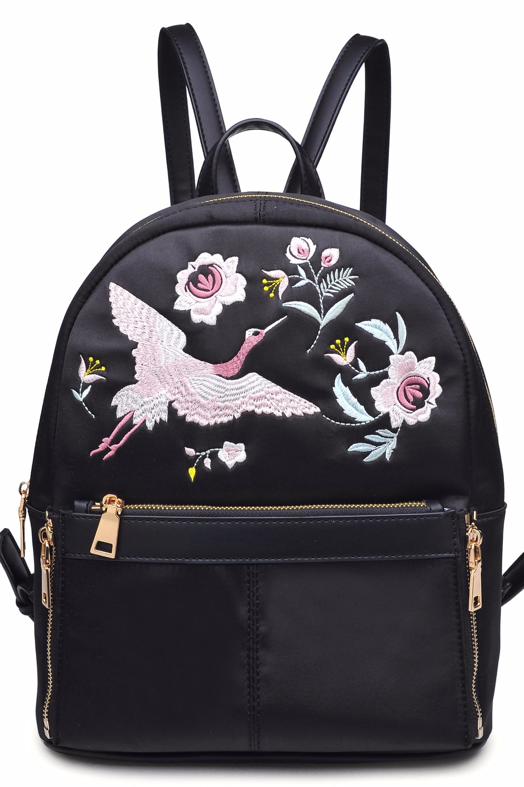 Urban Expressions Rio Embroidered Backpack - Front Cropped Image