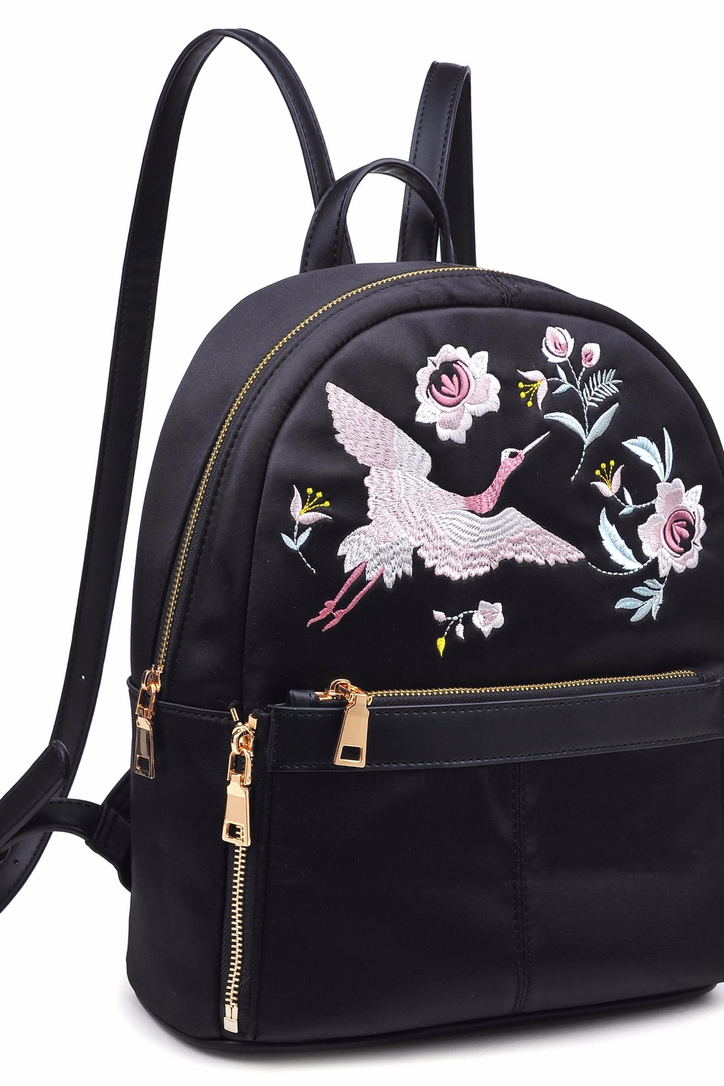 Urban Expressions Rio Embroidered Backpack - Side Cropped Image