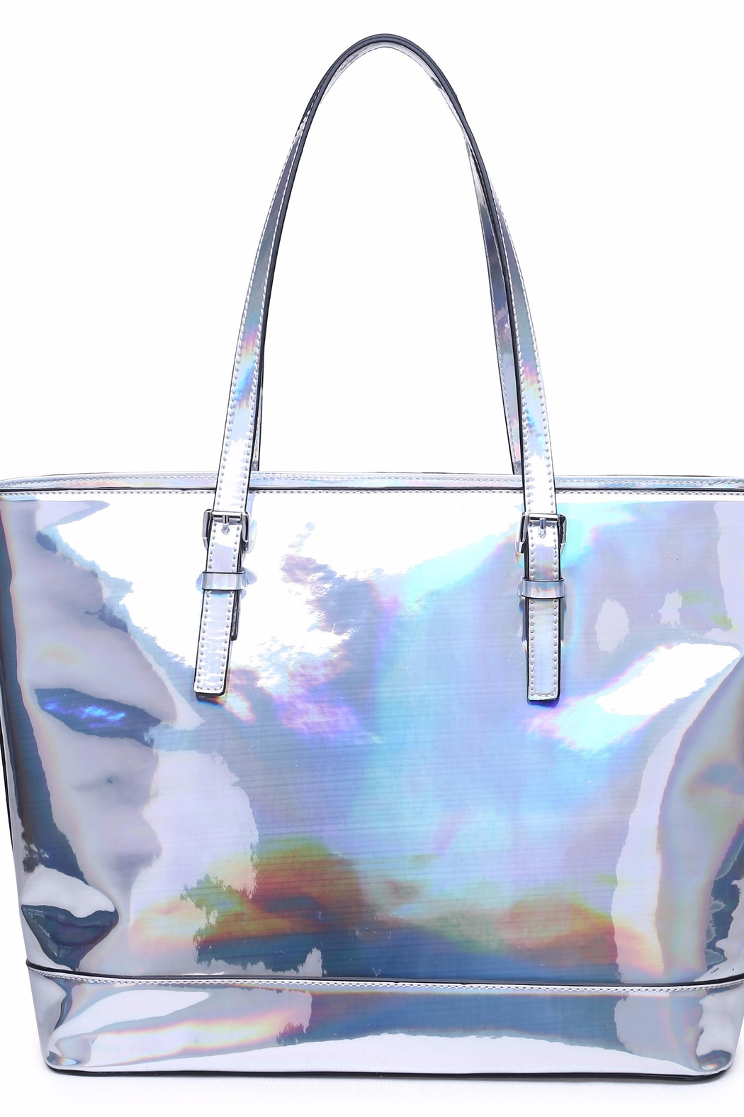 Urban Expressions Shiny Pegasus Tote - Front Cropped Image