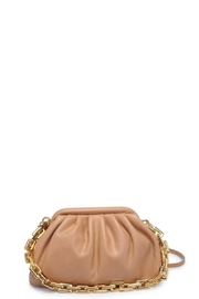 Urban Expressions Smooth Vegan Leather Shoulder Strap Clutch - Front cropped