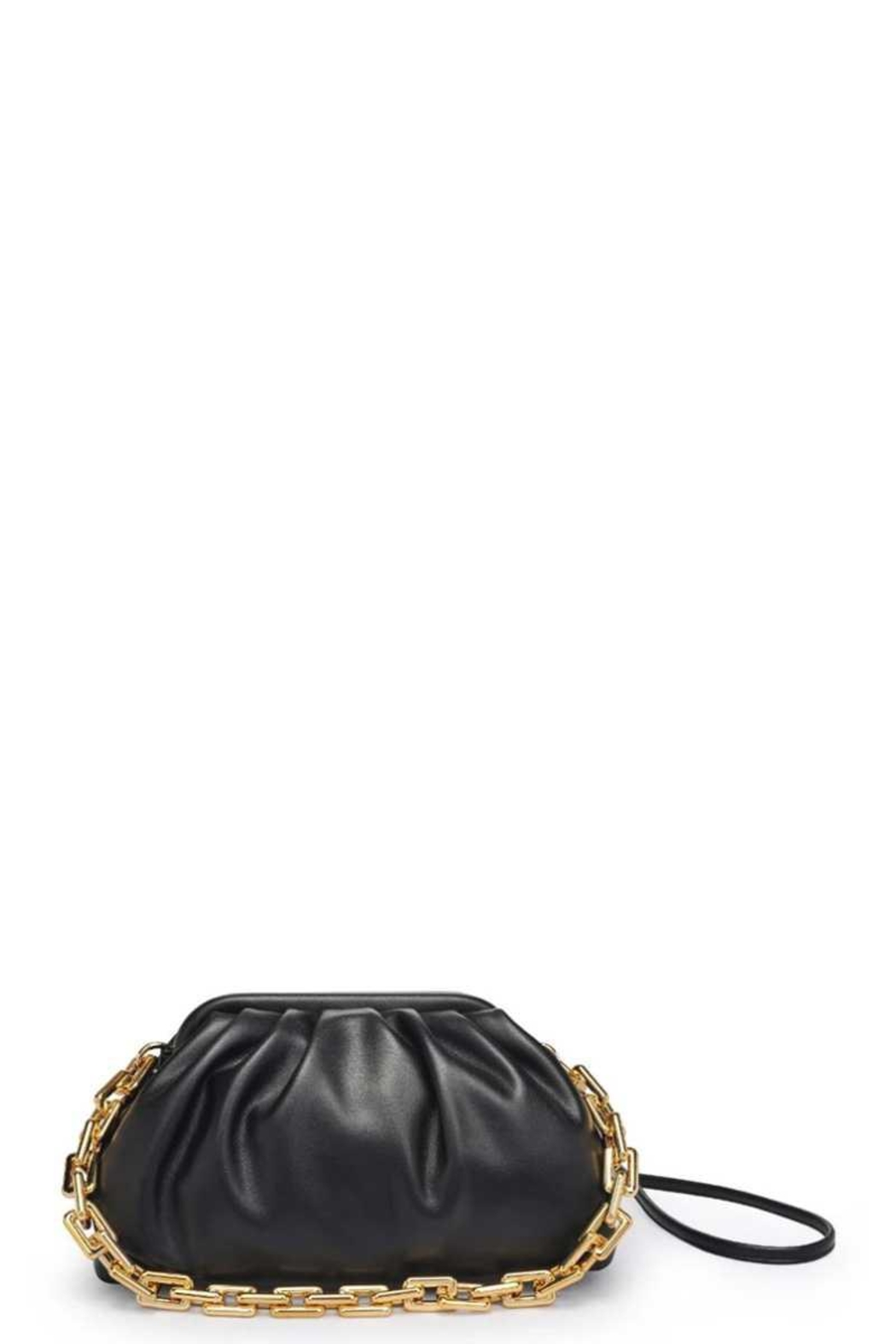 Urban Expressions Smooth Vegan Leather Shoulder Strap Clutch - Front Cropped Image