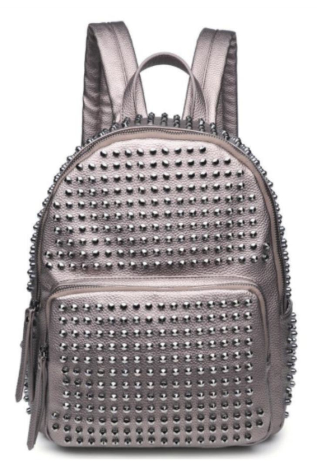 Urban Expressions Studded Metallic Backpack - Main Image