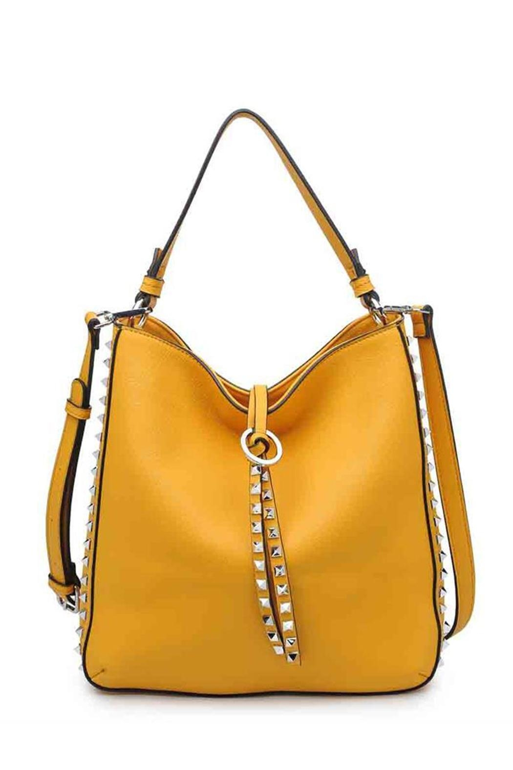 Urban Expressions Studded Mustard Bag - Back Cropped Image
