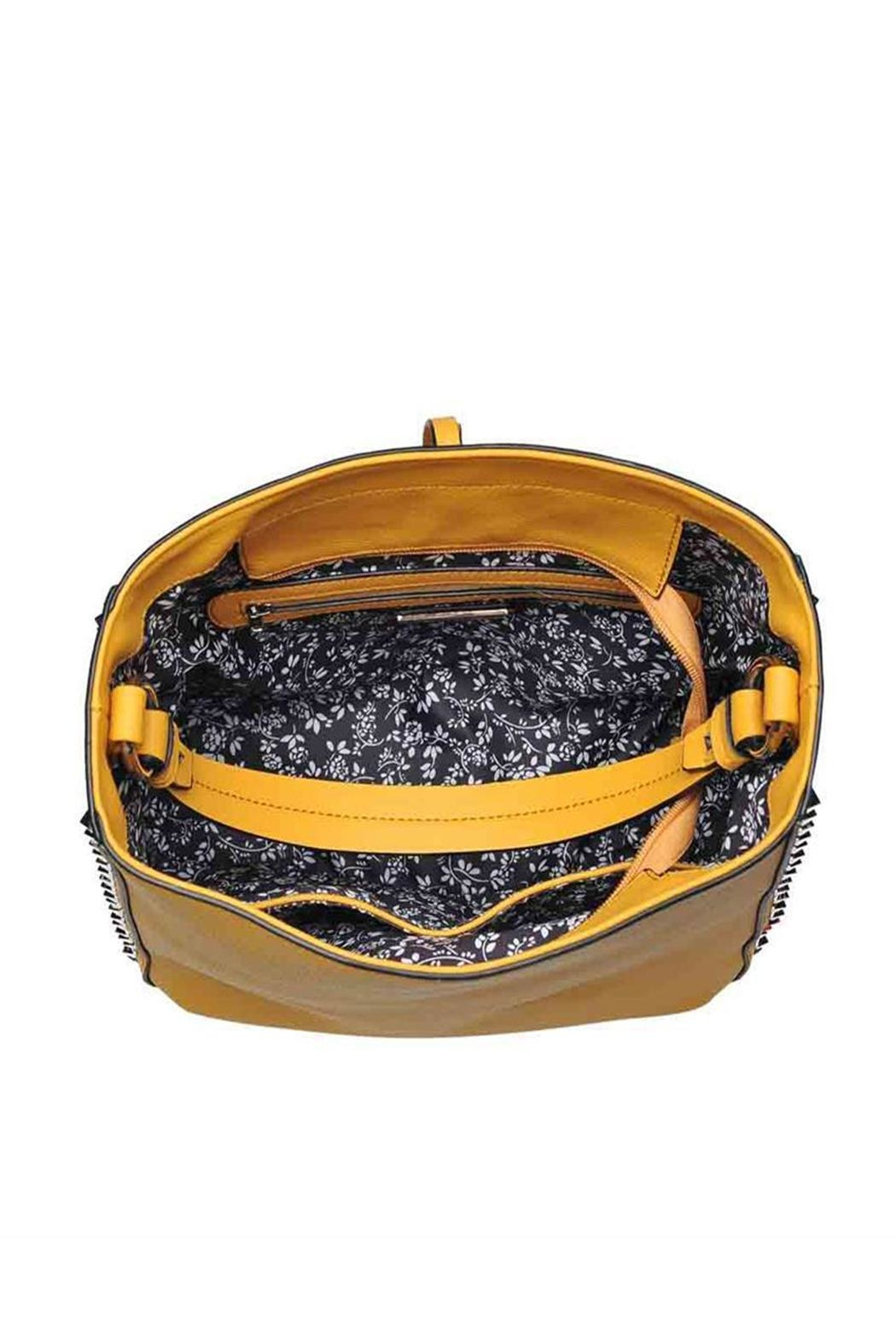 Urban Expressions Studded Mustard Bag - Side Cropped Image