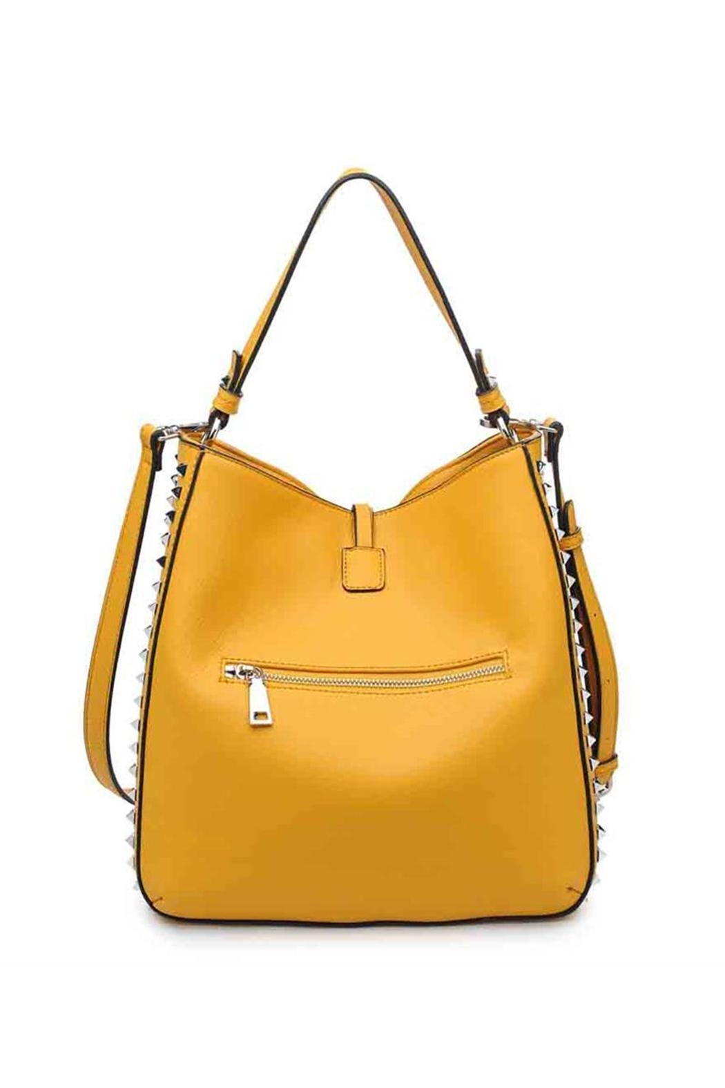 Urban Expressions Studded Mustard Bag - Front Full Image
