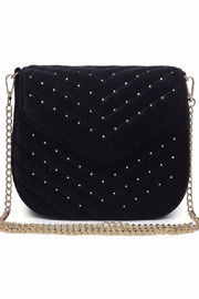 Urban Expressions Studded Velvet Clutch - Front full body