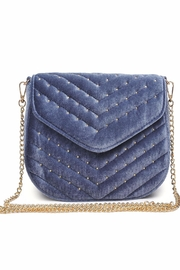 Urban Expressions Studded Velvet Clutch - Front cropped