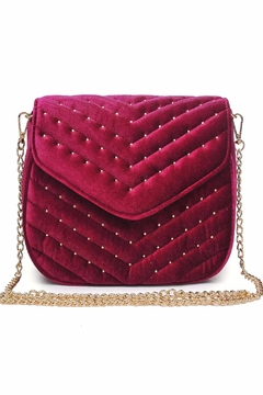 Urban Expressions Studded Velvet Clutch - Product List Image