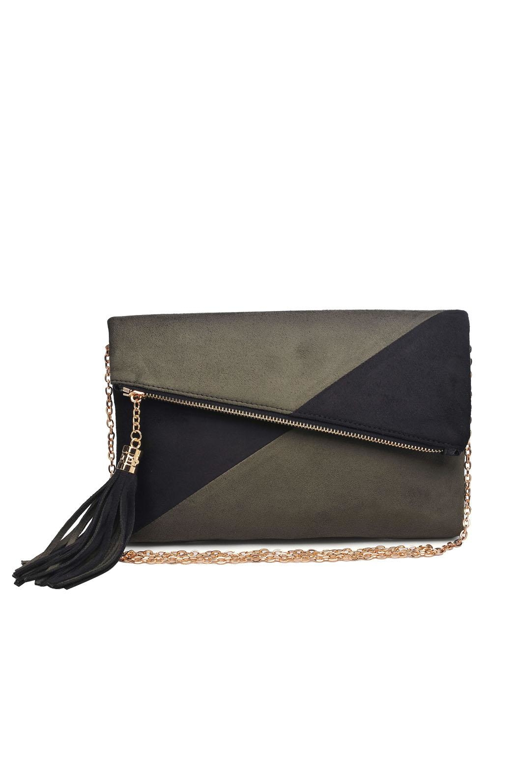 Urban Expressions Suede Foldover Clutch - Main Image