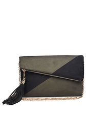 Urban Expressions Suede Foldover Clutch - Front cropped