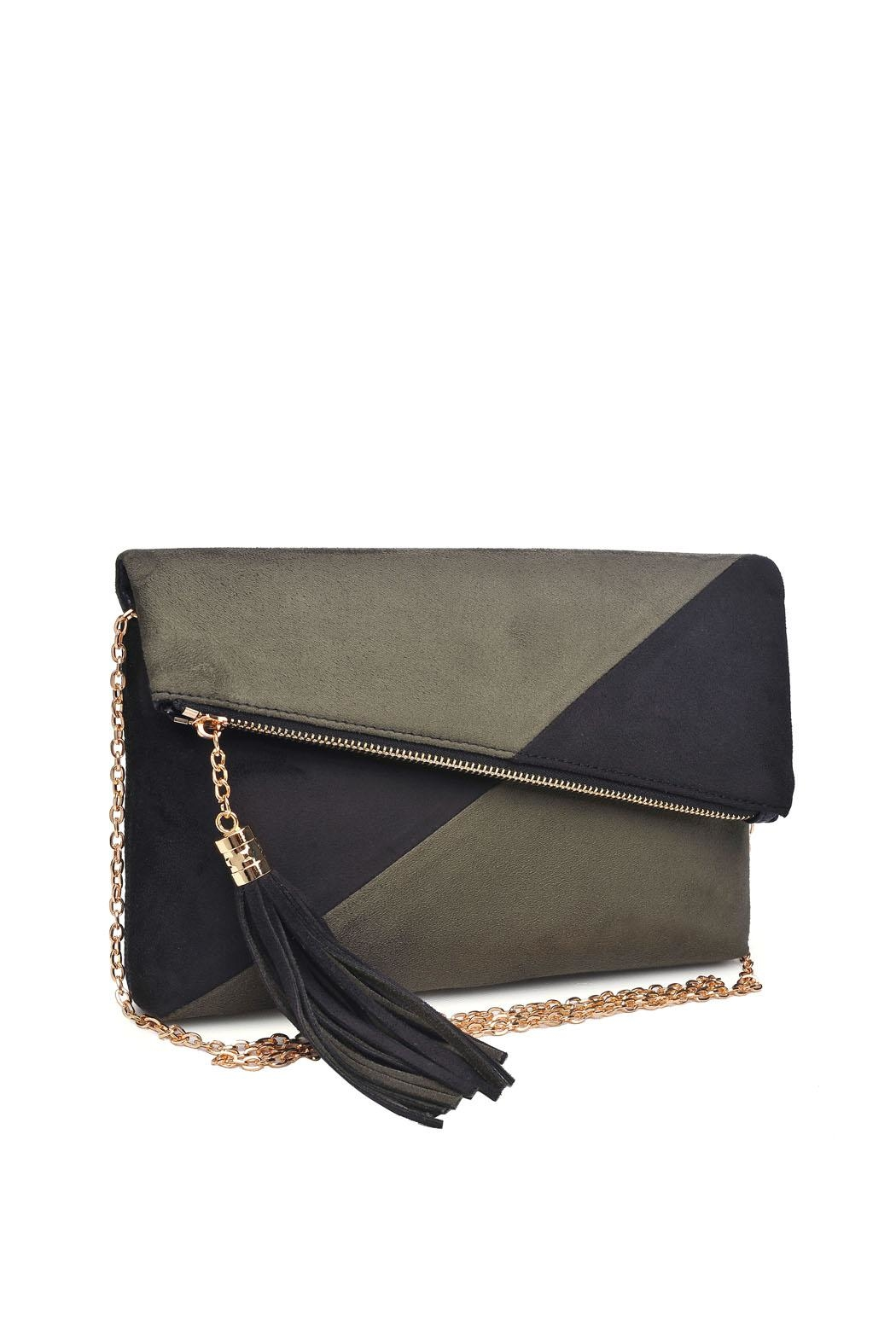 Urban Expressions Suede Foldover Clutch - Front Full Image