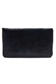 Urban Expressions Velvet Embroidered Clutch - Front full body
