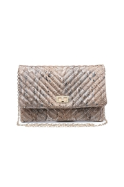 Urban Expressions Victoria Quilted Clutch - Front full body