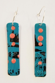 Urban Sassafras Credit Card Earrings - Front cropped