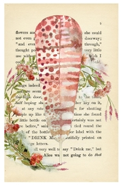 Urban Sassafras Feather Watercolor Bookpage - Front cropped