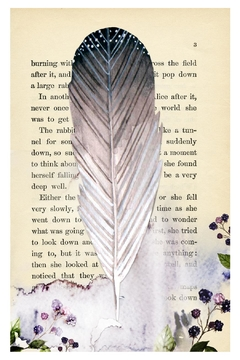 Shoptiques Product: Feather Watercolor Bookpage