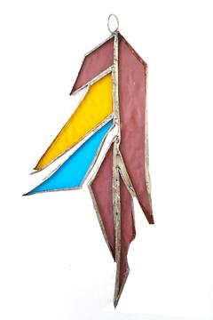 Urban Sassafras Stained Glass Feather - Product List Image