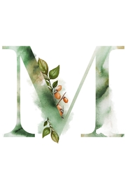 Urban Sassafras M Watercolor Letter Print - Product Mini Image