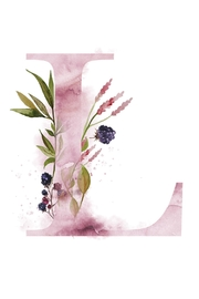 Urban Sassafras L Watercolor Letter Print - Product Mini Image