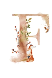 Urban Sassafras F Watercolor Letter Print - Product Mini Image