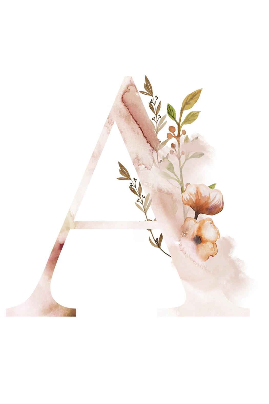 Urban Sassafras A Watercolor Letter Print - Main Image