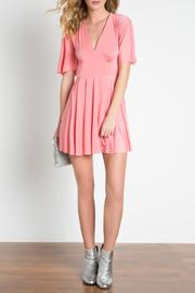 Urban Touch Coral Skater Dress - Front full body