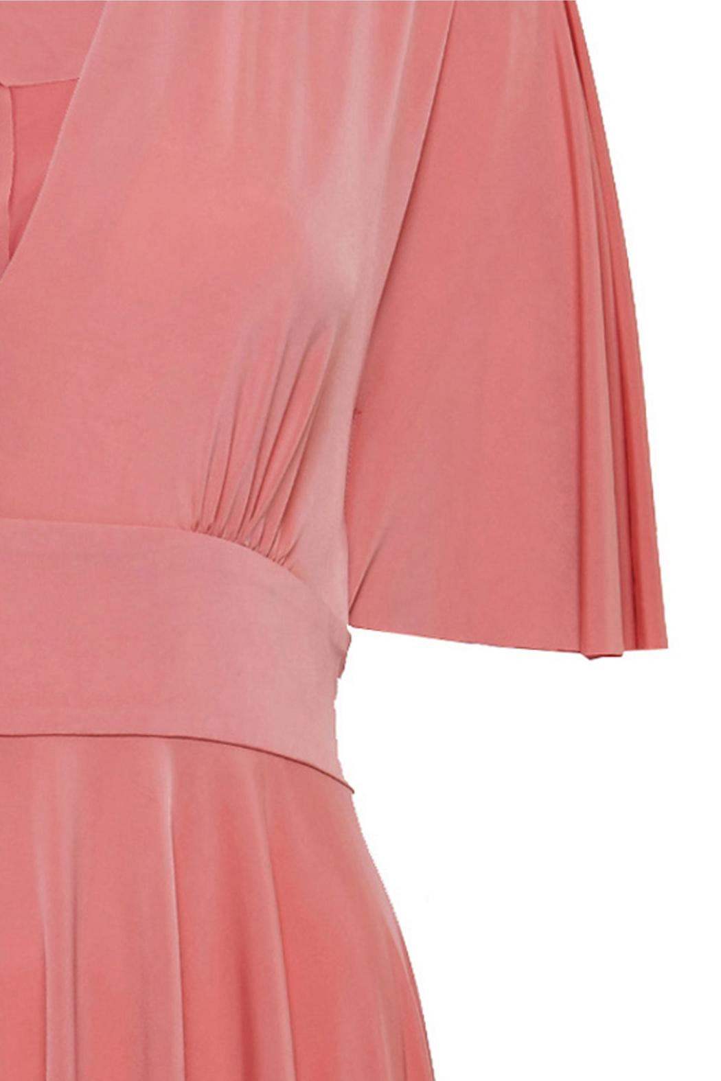 Urban Touch Coral Skater Dress - Back Cropped Image