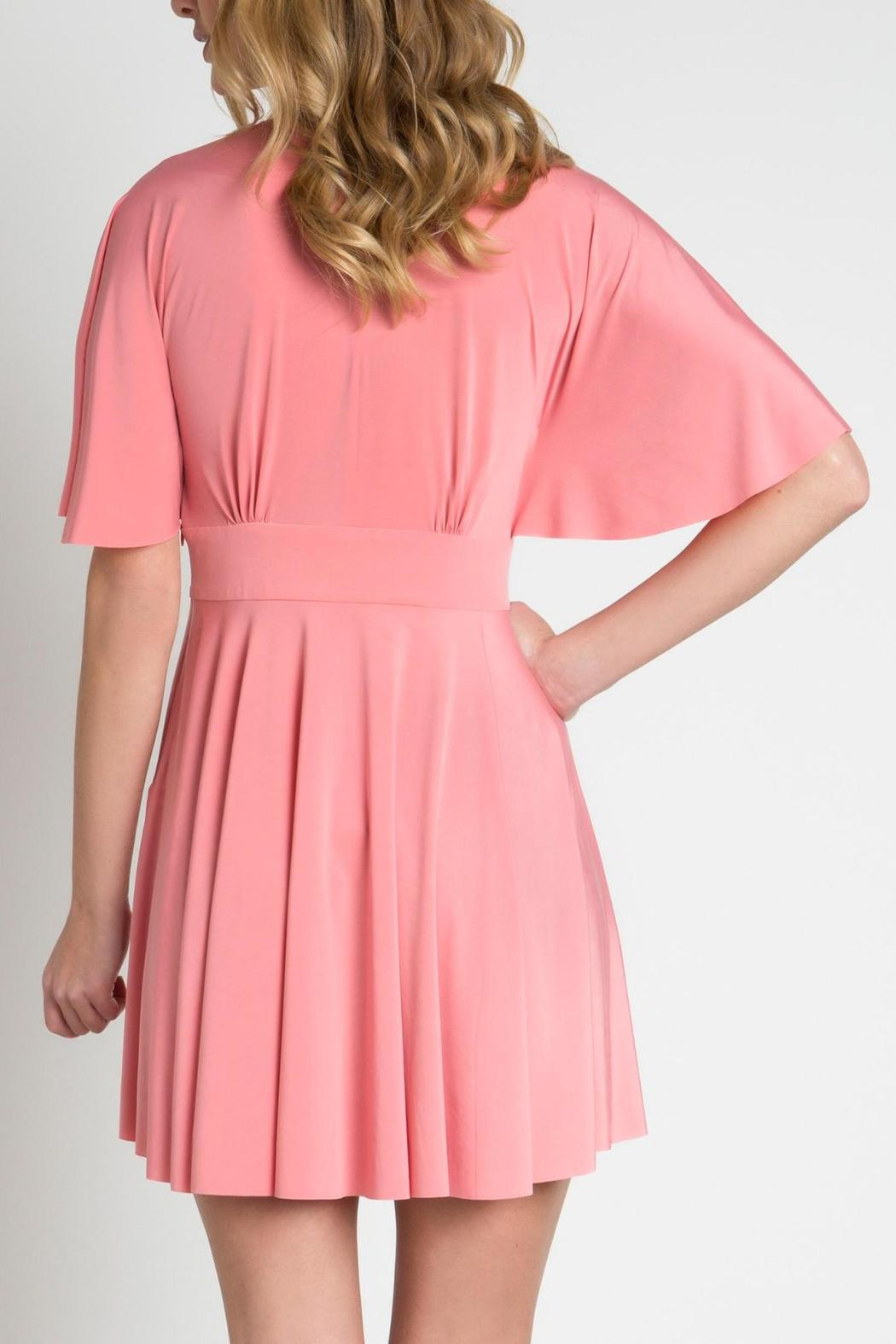 Urban Touch Coral Skater Dress - Side Cropped Image
