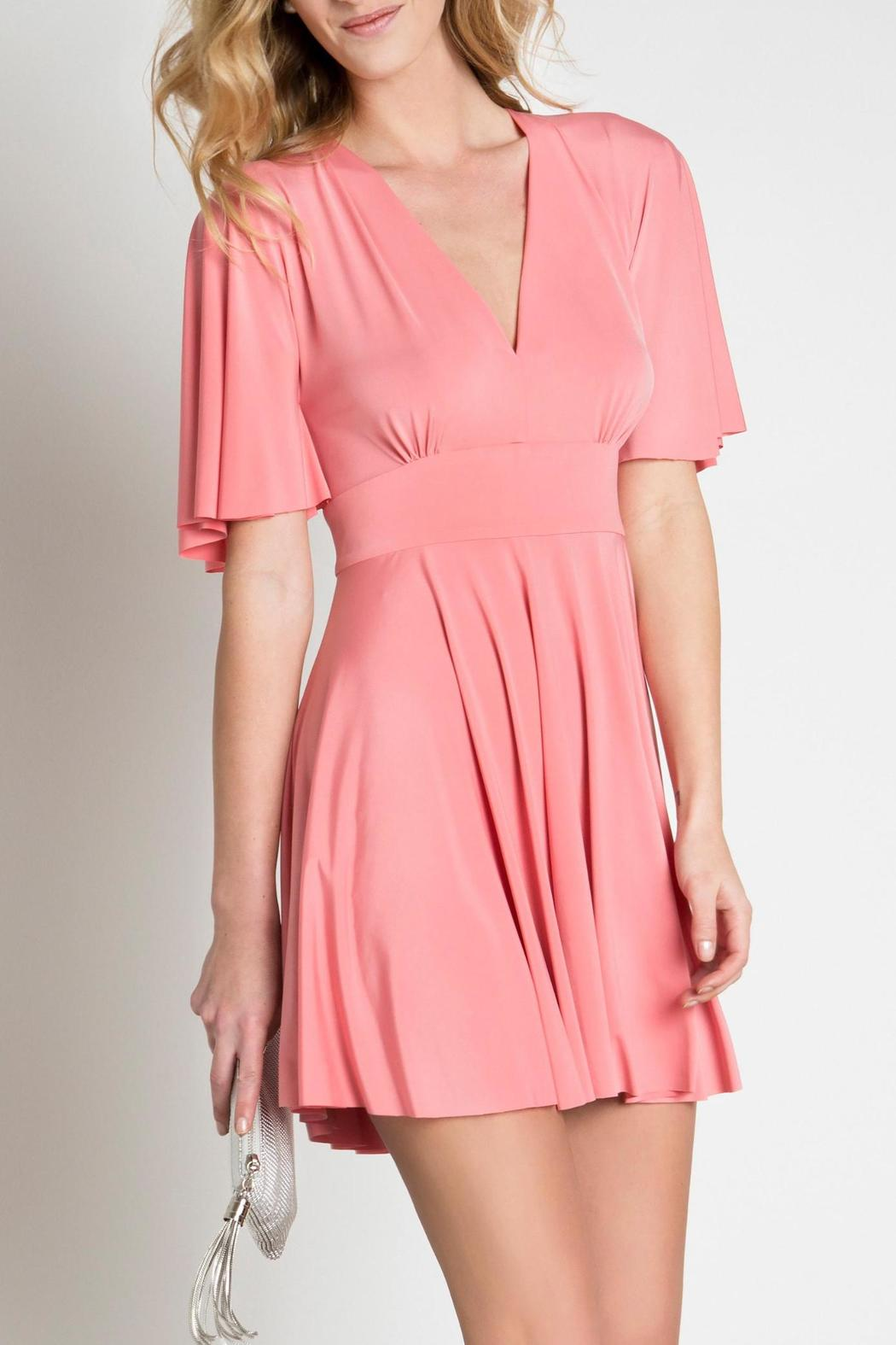 Urban Touch Coral Skater Dress - Main Image
