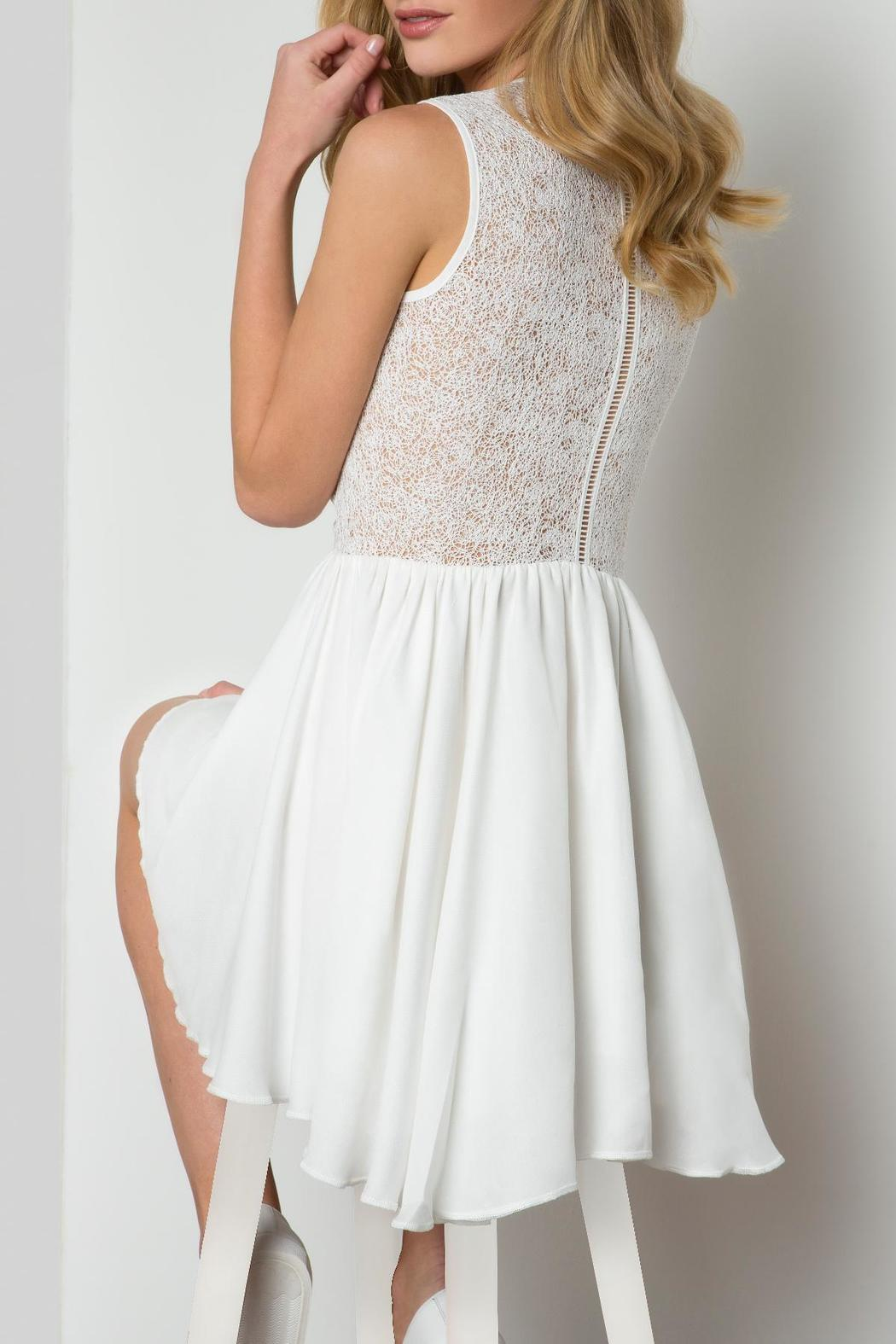 Urban Touch Crossover Skater Dress - Side Cropped Image