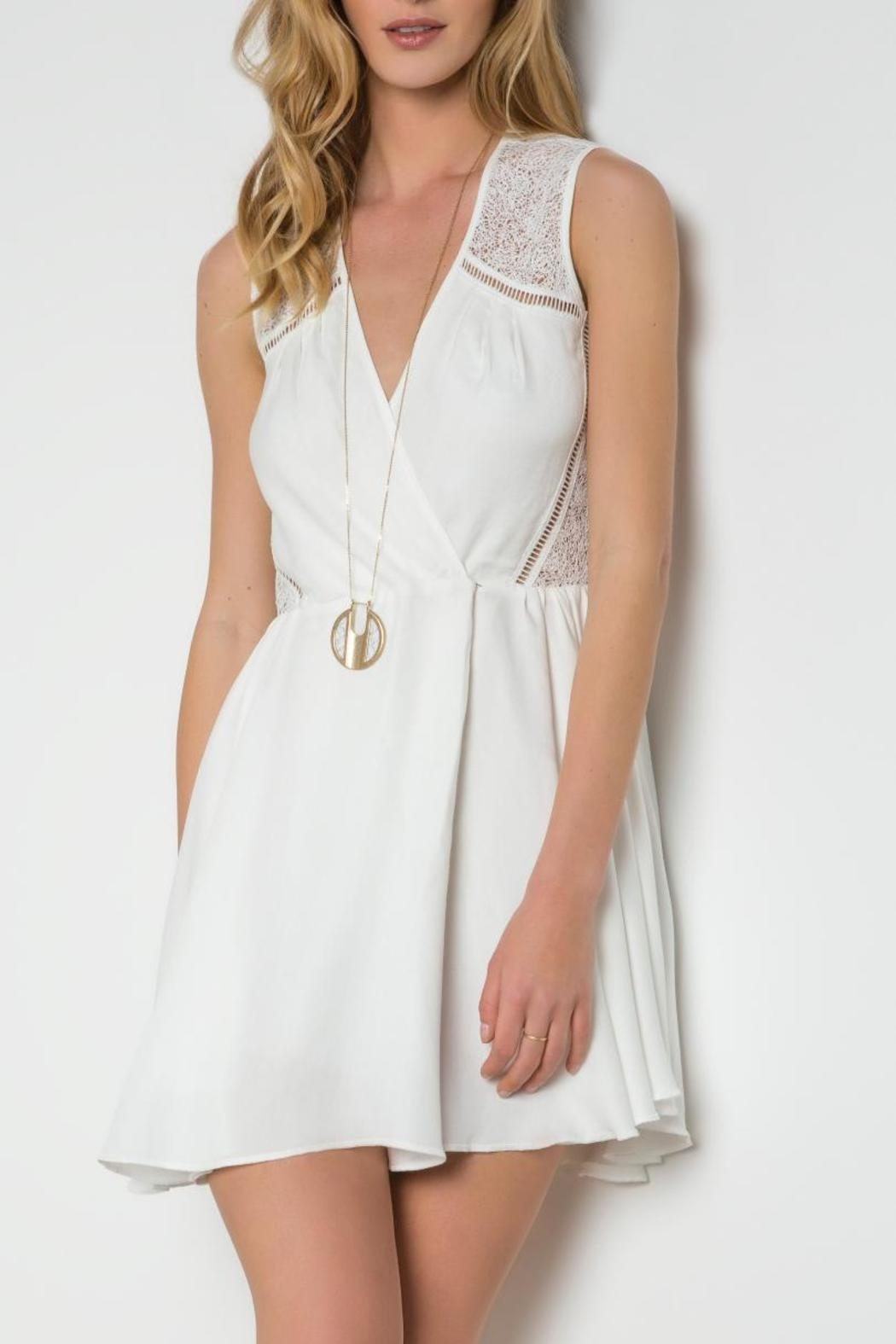 Urban Touch Crossover Skater Dress - Main Image
