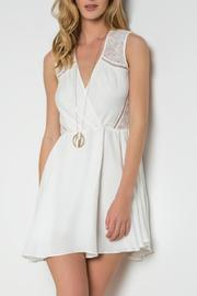 Urban Touch Crossover Skater Dress - Front cropped