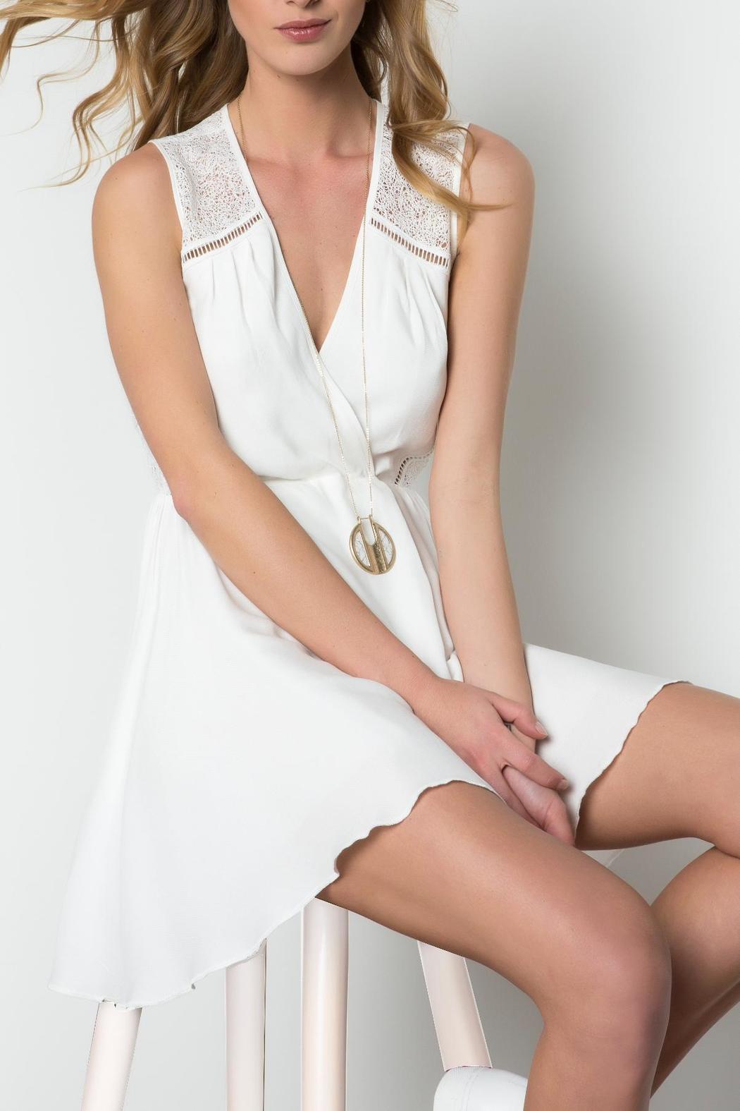 Urban Touch Crossover Skater Dress - Front Full Image