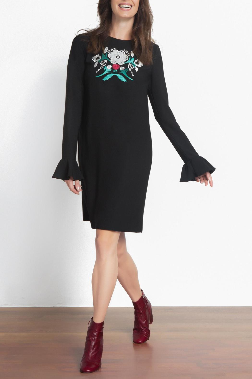 Urban Touch Embroidered Dress - Front Full Image