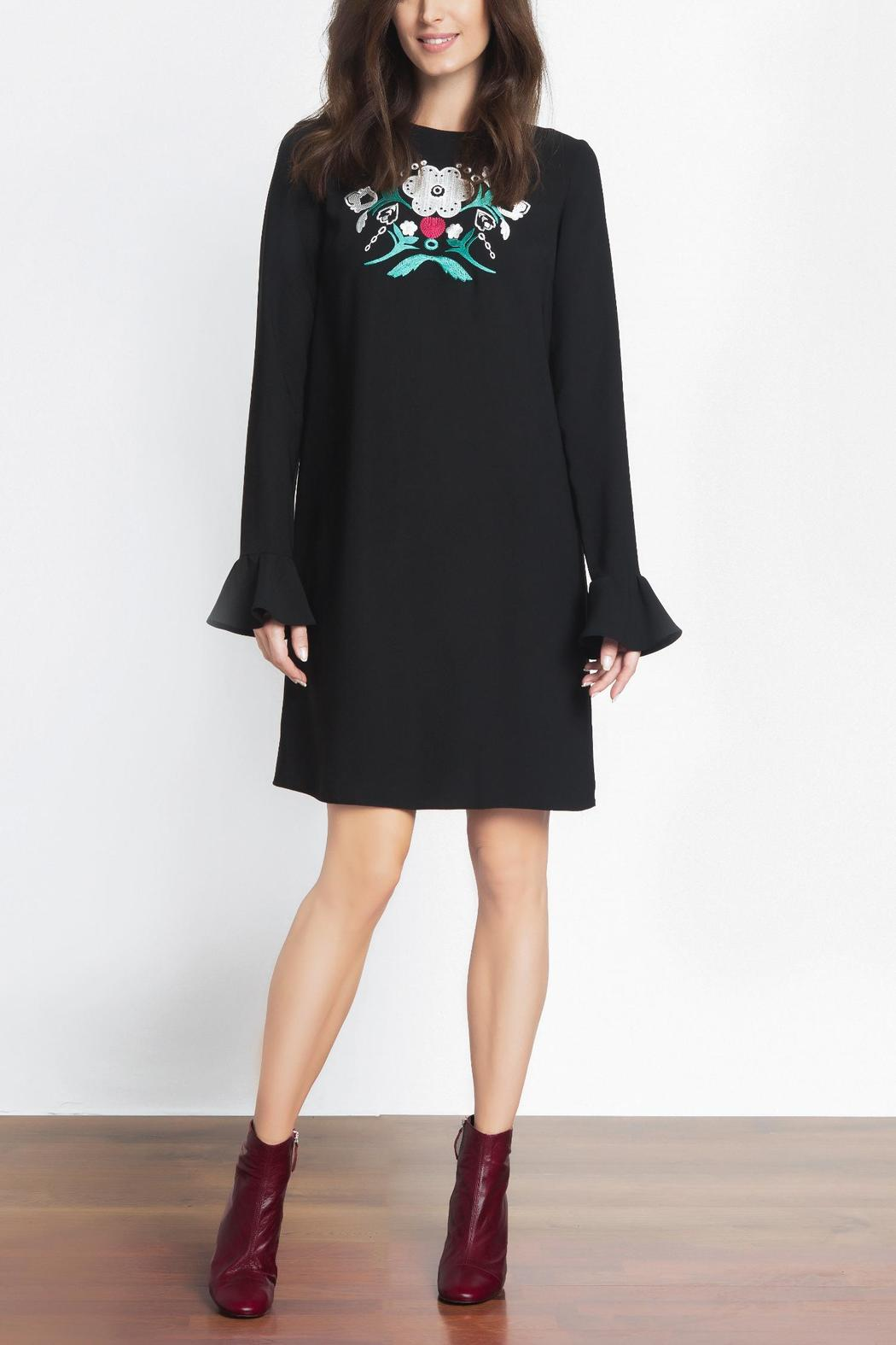 Urban Touch Embroidered Dress - Main Image
